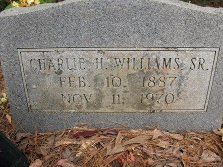 WILLIAMS, CHARLIE H, SR - Claiborne County, Louisiana | CHARLIE H, SR WILLIAMS - Louisiana Gravestone Photos
