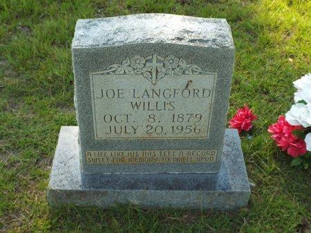 WILLIS, JOE LANGFORD - Claiborne County, Louisiana | JOE LANGFORD WILLIS - Louisiana Gravestone Photos