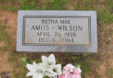 AMOS WILSON, RETHA MAE - Claiborne County, Louisiana | RETHA MAE AMOS WILSON - Louisiana Gravestone Photos