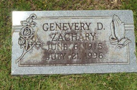 ZACHARY, GENEVERY - Claiborne County, Louisiana | GENEVERY ZACHARY - Louisiana Gravestone Photos