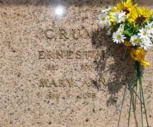 CRUM, MARY ANN - Concordia County, Louisiana | MARY ANN CRUM - Louisiana Gravestone Photos