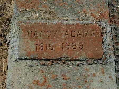ADAMS, NANCY - De Soto County, Louisiana   NANCY ADAMS - Louisiana Gravestone Photos