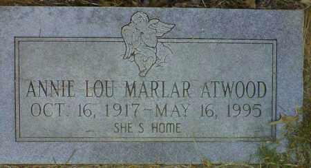 ATWOOD, ANNIE LOU - De Soto County, Louisiana   ANNIE LOU ATWOOD - Louisiana Gravestone Photos