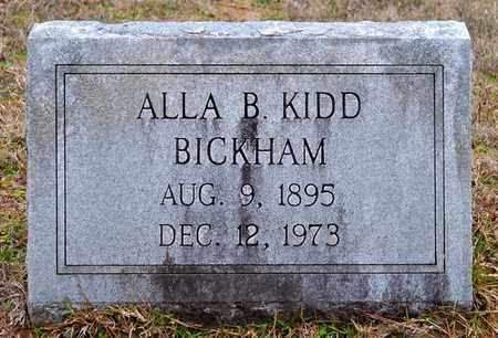 BICKHAM, ALLA B - De Soto County, Louisiana | ALLA B BICKHAM - Louisiana Gravestone Photos