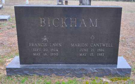 CANTWELL BICKHAM, STELLA MARION - De Soto County, Louisiana   STELLA MARION CANTWELL BICKHAM - Louisiana Gravestone Photos