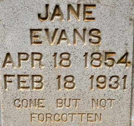 EVANS, ANNA JANE (CLOSEUP) - De Soto County, Louisiana   ANNA JANE (CLOSEUP) EVANS - Louisiana Gravestone Photos