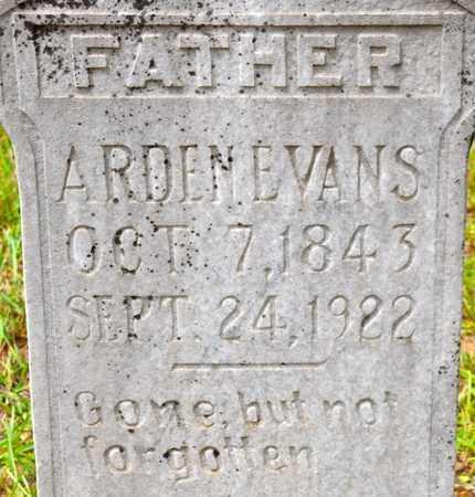 EVANS, ARDEN (CLOSEUP) - De Soto County, Louisiana | ARDEN (CLOSEUP) EVANS - Louisiana Gravestone Photos