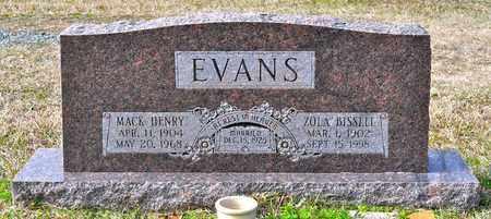 BISSELL EVANS, ZOLA - De Soto County, Louisiana | ZOLA BISSELL EVANS - Louisiana Gravestone Photos
