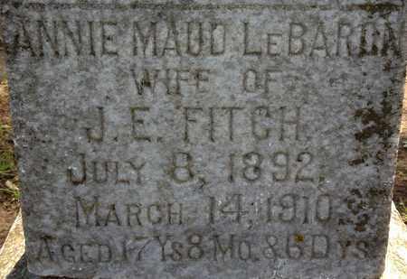 FITCH, ANNIE MAUD - De Soto County, Louisiana | ANNIE MAUD FITCH - Louisiana Gravestone Photos