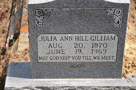 HILL GILLIAM, JULIA ANN - De Soto County, Louisiana | JULIA ANN HILL GILLIAM - Louisiana Gravestone Photos