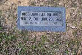 HALL, EMMA JEFFRIE - De Soto County, Louisiana | EMMA JEFFRIE HALL - Louisiana Gravestone Photos