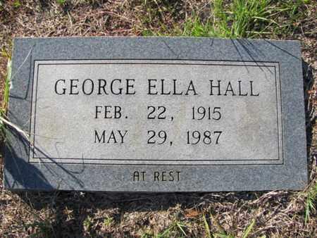 HALL, GEORGE ELLA - De Soto County, Louisiana | GEORGE ELLA HALL - Louisiana Gravestone Photos