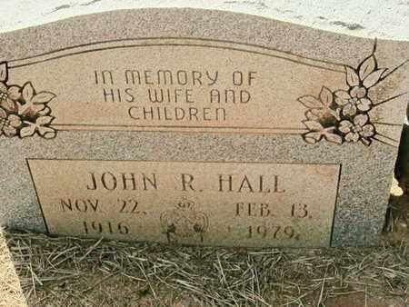 HALL, JOHN R - De Soto County, Louisiana | JOHN R HALL - Louisiana Gravestone Photos
