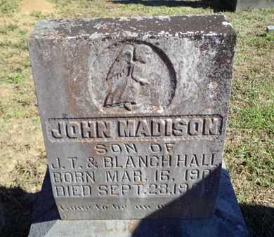 HALL, JOHN MADISON - De Soto County, Louisiana   JOHN MADISON HALL - Louisiana Gravestone Photos