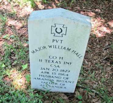 HALL, MAJOR WILLIAM (VETERAN CSA) - De Soto County, Louisiana   MAJOR WILLIAM (VETERAN CSA) HALL - Louisiana Gravestone Photos
