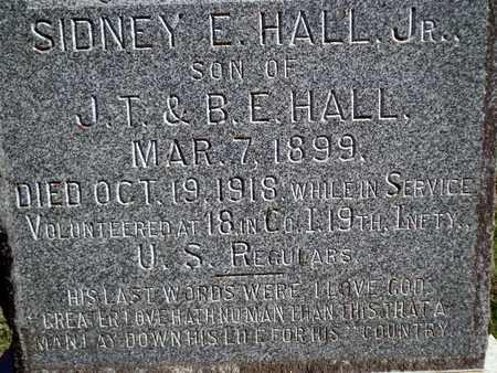 HALL, SIDNEY E, JR (VETERAN ) - De Soto County, Louisiana | SIDNEY E, JR (VETERAN ) HALL - Louisiana Gravestone Photos