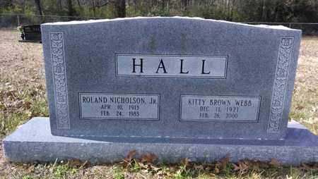 HALL, ROLAND NICHOLSON, JR - De Soto County, Louisiana | ROLAND NICHOLSON, JR HALL - Louisiana Gravestone Photos