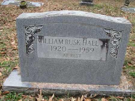 HALL, WILLIAM RUSH - De Soto County, Louisiana   WILLIAM RUSH HALL - Louisiana Gravestone Photos