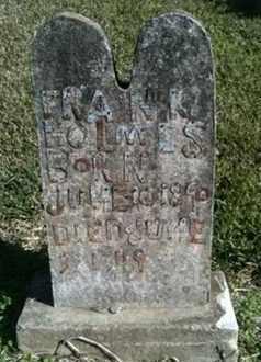 HOLMES, FRANK - De Soto County, Louisiana   FRANK HOLMES - Louisiana Gravestone Photos