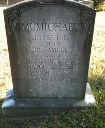 MCMICHAEL, JOSEPH B - De Soto County, Louisiana | JOSEPH B MCMICHAEL - Louisiana Gravestone Photos