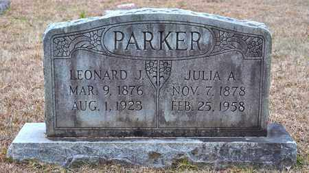 PARKER, LEONARD JAMES - De Soto County, Louisiana | LEONARD JAMES PARKER - Louisiana Gravestone Photos