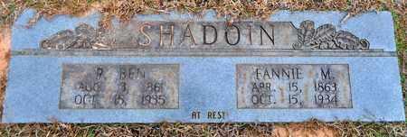 NORWOOD SHADOIN, FANNIE M - De Soto County, Louisiana | FANNIE M NORWOOD SHADOIN - Louisiana Gravestone Photos