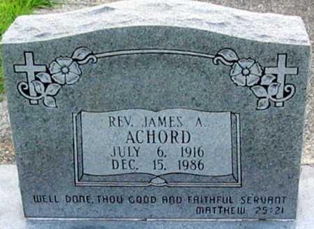 ACHORD, JAMES A, REV - East Baton Rouge County, Louisiana | JAMES A, REV ACHORD - Louisiana Gravestone Photos