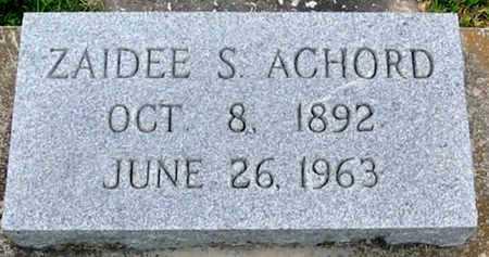 ACHORD, ZAIDEE S - East Baton Rouge County, Louisiana | ZAIDEE S ACHORD - Louisiana Gravestone Photos