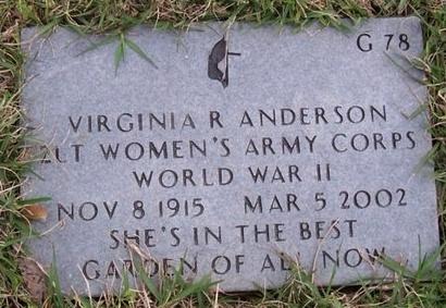 ANDERSON, VIRGINIA R (VETERAN WWII) - East Baton Rouge County, Louisiana | VIRGINIA R (VETERAN WWII) ANDERSON - Louisiana Gravestone Photos
