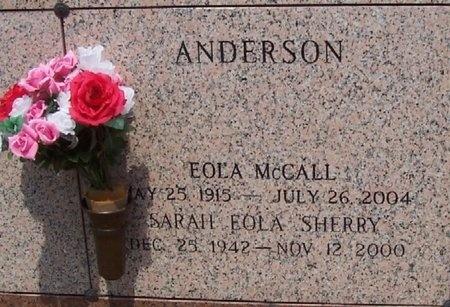 ANDERSON, EOLA BLOUIN - East Baton Rouge County, Louisiana | EOLA BLOUIN ANDERSON - Louisiana Gravestone Photos