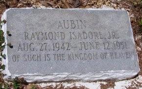 AUBIN, RAYMOND ISADORE, JR - East Baton Rouge County, Louisiana | RAYMOND ISADORE, JR AUBIN - Louisiana Gravestone Photos