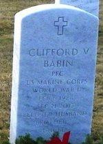 BABIN, CLIFFORD VICTOR  (VETERAN WWII) - East Baton Rouge County, Louisiana   CLIFFORD VICTOR  (VETERAN WWII) BABIN - Louisiana Gravestone Photos