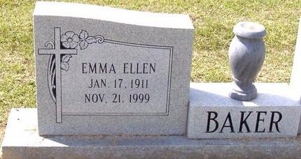 BAKER, EMMA ELLEN - East Baton Rouge County, Louisiana | EMMA ELLEN BAKER - Louisiana Gravestone Photos