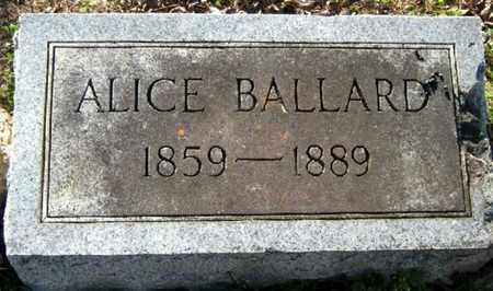 BALLARD, ALICE - East Baton Rouge County, Louisiana | ALICE BALLARD - Louisiana Gravestone Photos