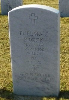 GOFF BROCK, THELMA - East Baton Rouge County, Louisiana | THELMA GOFF BROCK - Louisiana Gravestone Photos
