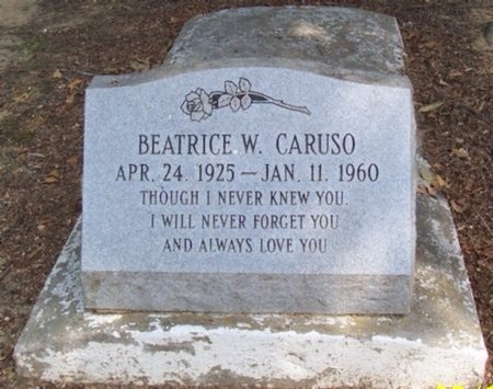 CARUSO, BEATRICE W - East Baton Rouge County, Louisiana | BEATRICE W CARUSO - Louisiana Gravestone Photos