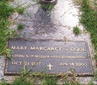 COOK, MARGARET J - East Baton Rouge County, Louisiana | MARGARET J COOK - Louisiana Gravestone Photos