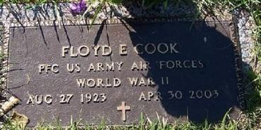 COOK, FLOYD E (VETERAN WWII) - East Baton Rouge County, Louisiana   FLOYD E (VETERAN WWII) COOK - Louisiana Gravestone Photos