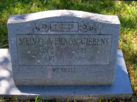 GIBBENS, MELVEN VERNON (CLOSEUP) - East Baton Rouge County, Louisiana   MELVEN VERNON (CLOSEUP) GIBBENS - Louisiana Gravestone Photos