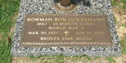 GOETZMANN, BOWMAN BON (VETERAN WWII) - East Baton Rouge County, Louisiana   BOWMAN BON (VETERAN WWII) GOETZMANN - Louisiana Gravestone Photos
