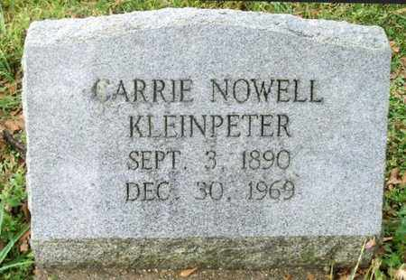 NOWELL KLEINPETER, CARRIE - East Baton Rouge County, Louisiana | CARRIE NOWELL KLEINPETER - Louisiana Gravestone Photos