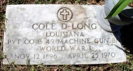 LONG, COLE D  (VETERAN WWI) - East Baton Rouge County, Louisiana | COLE D  (VETERAN WWI) LONG - Louisiana Gravestone Photos