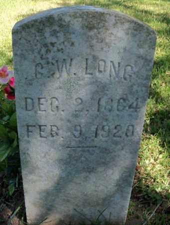 LONG, G W - East Baton Rouge County, Louisiana   G W LONG - Louisiana Gravestone Photos