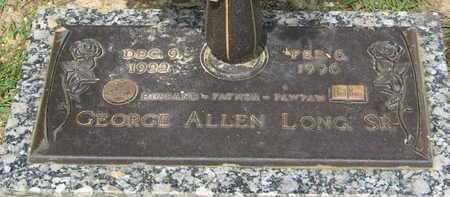 LONG, GEORGE ALLEN, SR - East Baton Rouge County, Louisiana | GEORGE ALLEN, SR LONG - Louisiana Gravestone Photos