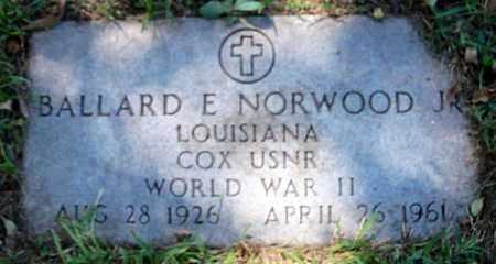 NORWOOD, BALLARD E, JR (VETERAN WWII) - East Baton Rouge County, Louisiana   BALLARD E, JR (VETERAN WWII) NORWOOD - Louisiana Gravestone Photos