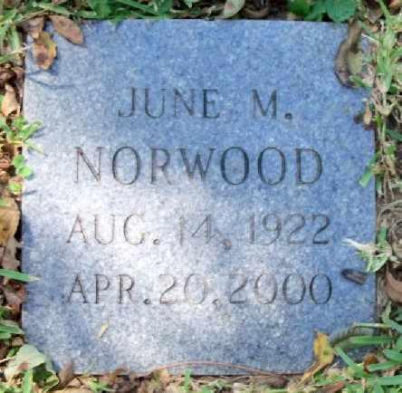 NORWOOD, JUNE M - East Baton Rouge County, Louisiana | JUNE M NORWOOD - Louisiana Gravestone Photos