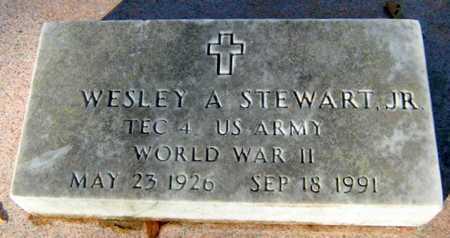 STEWART, WESLEY A, JR  (VETERAN WWII) - East Baton Rouge County, Louisiana   WESLEY A, JR  (VETERAN WWII) STEWART - Louisiana Gravestone Photos