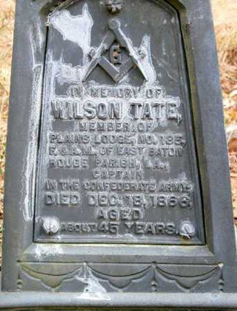 TATE, WILSON (CLOSEUP) - East Baton Rouge County, Louisiana | WILSON (CLOSEUP) TATE - Louisiana Gravestone Photos