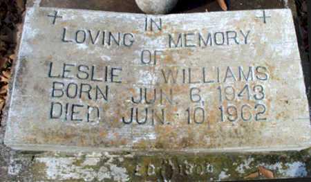 WILLIAMS, LESLIE - East Baton Rouge County, Louisiana | LESLIE WILLIAMS - Louisiana Gravestone Photos