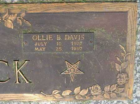 DAVIS WOMACK, OLLIE B (CLOSEUP) - East Baton Rouge County, Louisiana | OLLIE B (CLOSEUP) DAVIS WOMACK - Louisiana Gravestone Photos